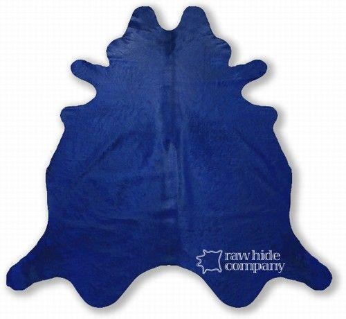 Wild Colors Navy Blue Cowhide Rug