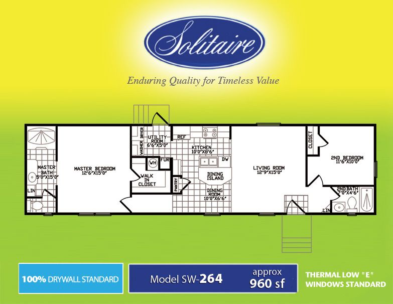 Single wide floorplans manufactured home floor plans for 14 x 60 mobile home floor plan