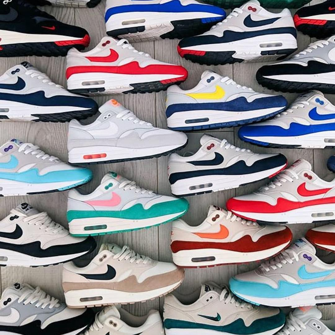 A nice, clean Nike Air Max 1 collection, by @tazs_world