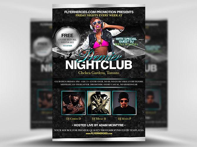 Free Premier Nightclub Psd Flyer Template Httpvectorarea