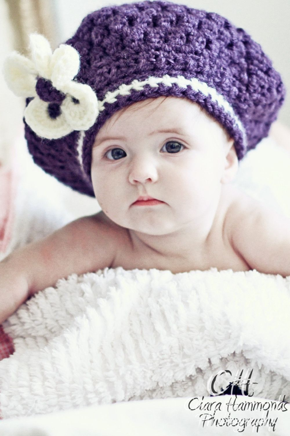 Baby beret crochet pattern free patterns baby pinterest slouchy beret hat pattern pdf crochet includes 4 sizes and flower bankloansurffo Choice Image