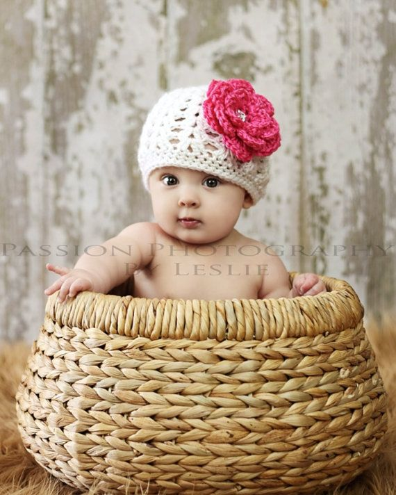 Baby Girl Hat - Crochet Boutique Beanie - Newborn to 4 Years - You ...
