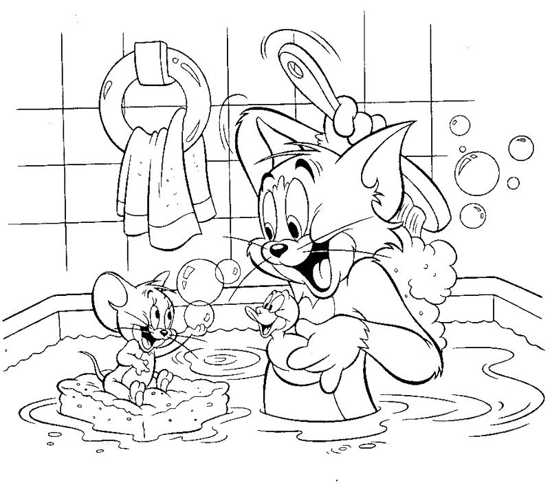 Bathroom Coloring Pages Tom And Jerry Shared Bathroom Coloring