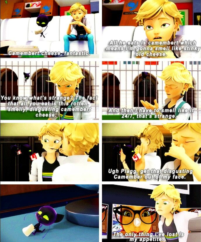 Adrien's hate for camembert • Miraculous Ladybug