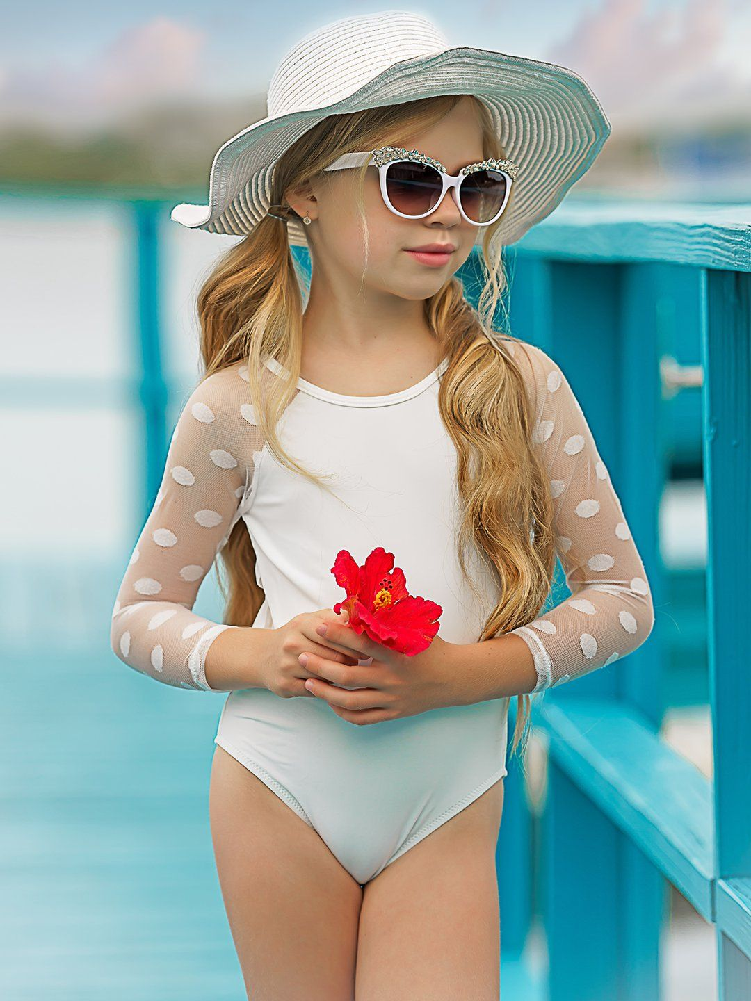 Girls Diva At The Beach One Piece Swimsuit