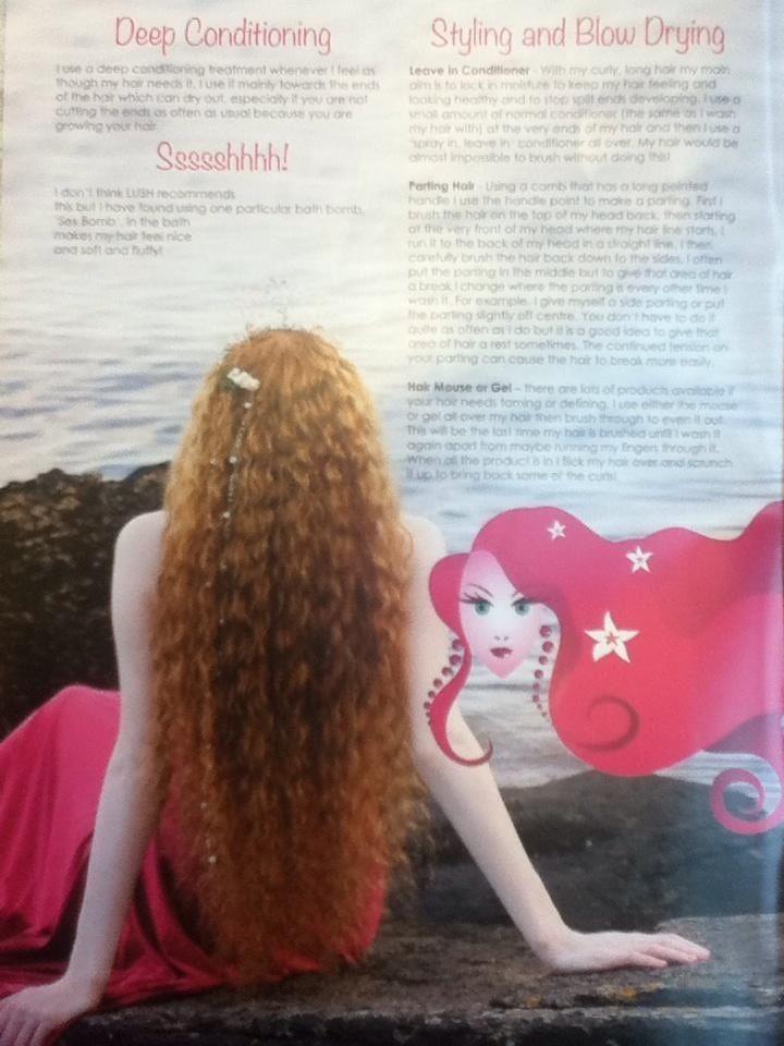 Gorgeous Young Fantasy Mermaid With Long Dark Hair Posing