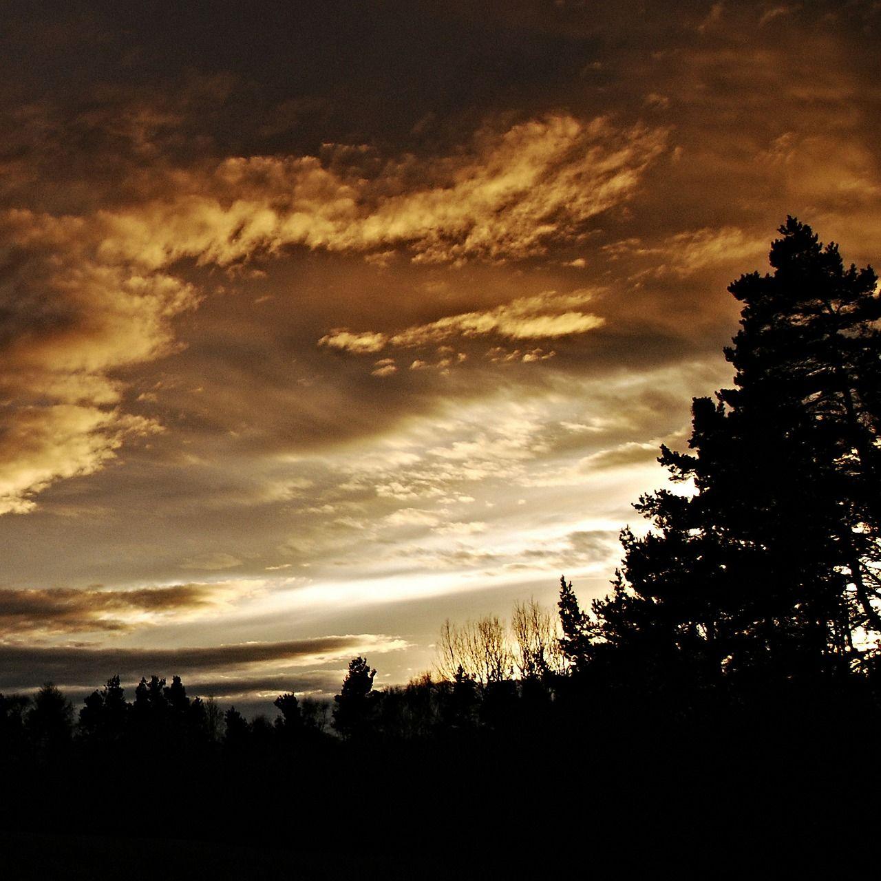 Enchanting evening scene.