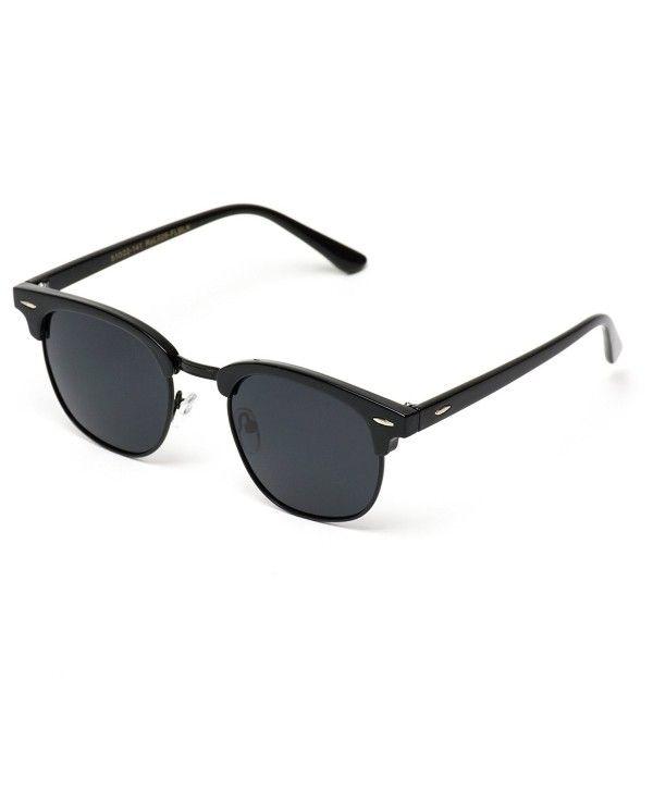 662bd5ba13 Classic Half Frame Polarized Semi-Rimless Rimmed Sunglasses - Full ...