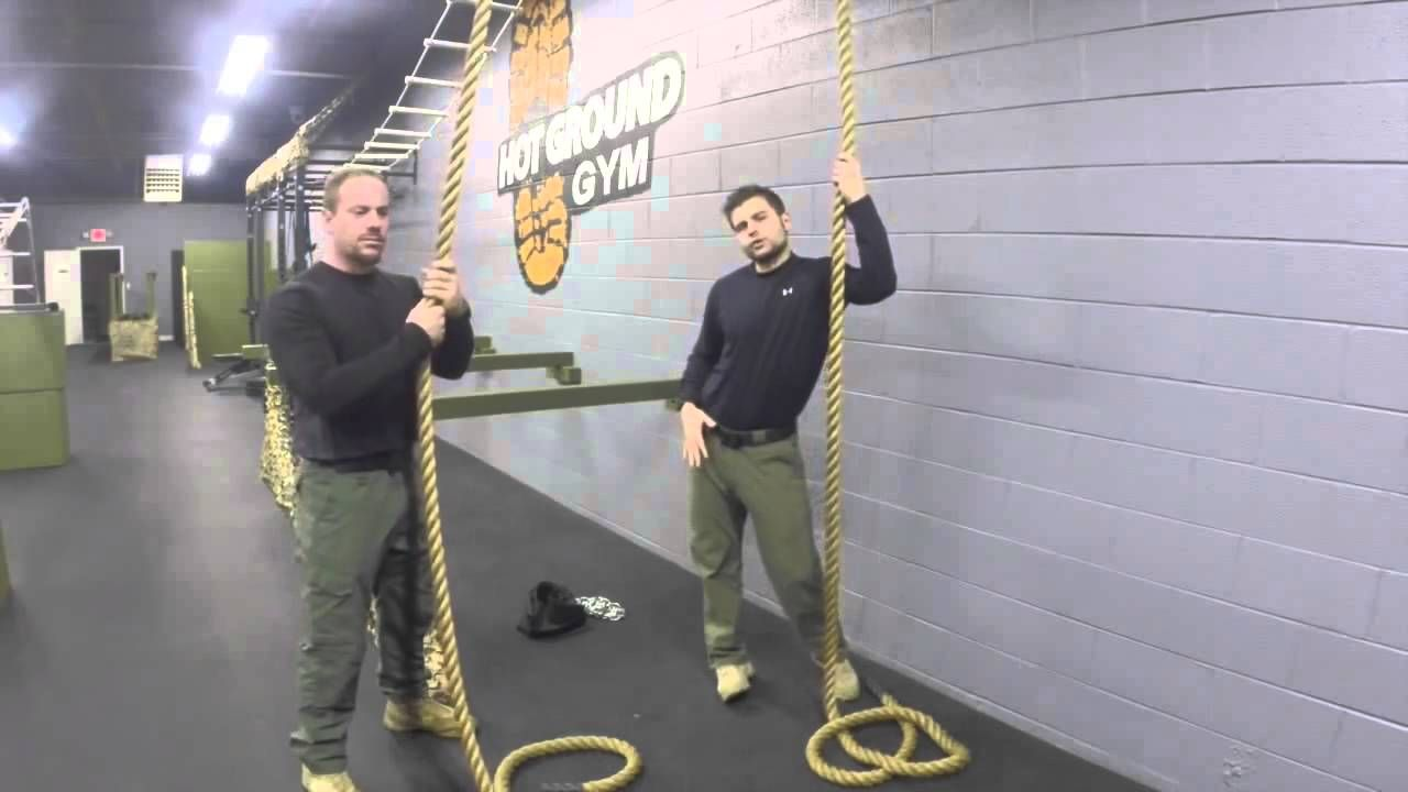 So Rope climbing?  The US Marine Corps way or Israeli Spec Ops?