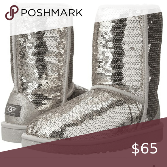 Silver sequin ugg boots in 2020 | Ugg