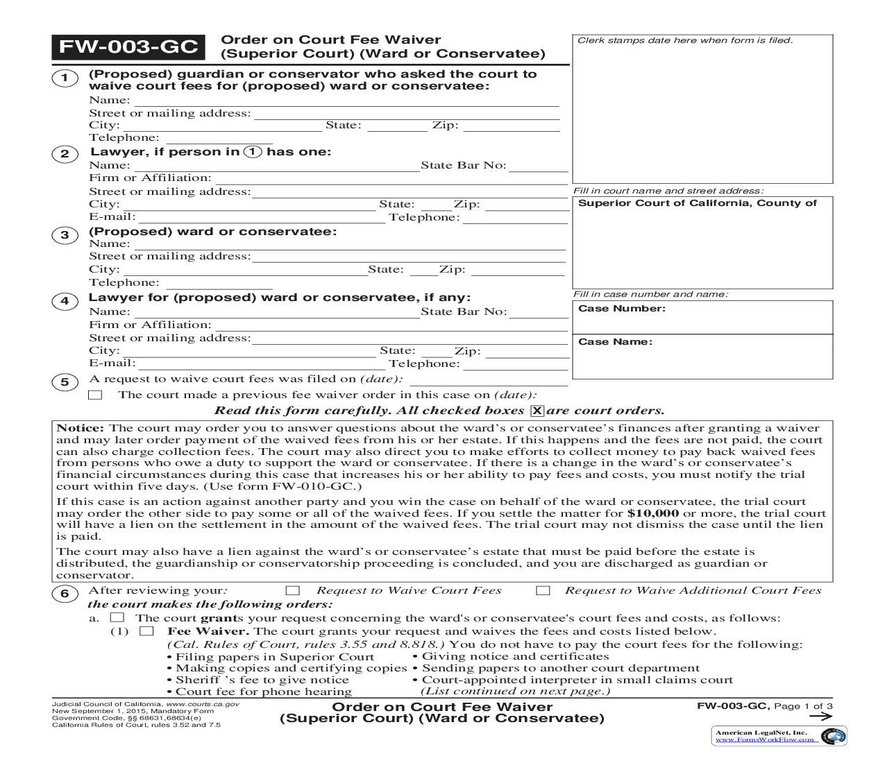Civil Summons Form Fair This Is A California Form That Can Be Used For Fee Waiver Within .