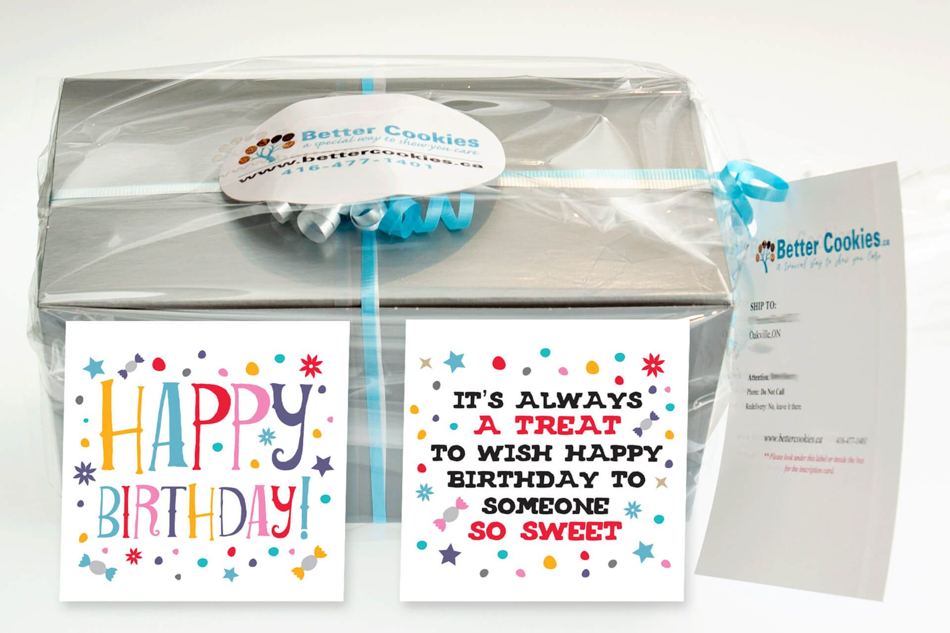 Small Sweet Birthday Gift Box With Our Gourmet Cookies Cookie Gift