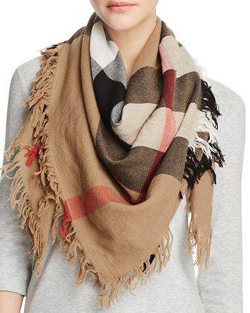 beige burberry scarf