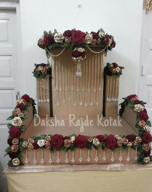 Ganpati decoration makhar wow more beautiful swing for Decoration ganpati
