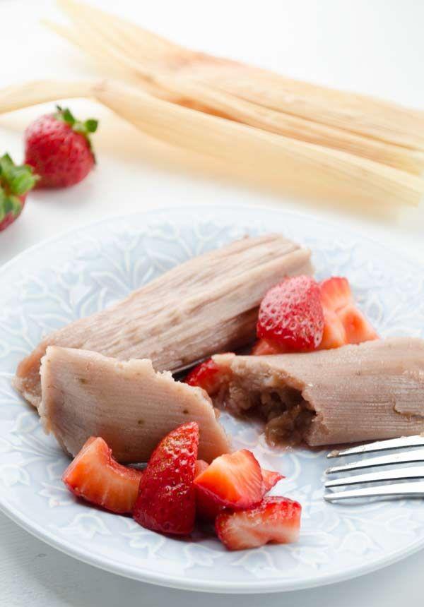 Tamales veganos de fresa tamales mermelada y dulce de for Menu vegano para principiantes