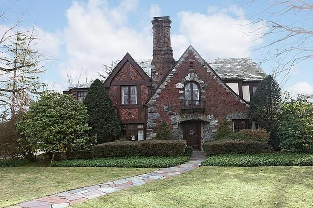 Majestic 1929 English Tudor at 414 Stewart Avenue, Garden City Long Island NY
