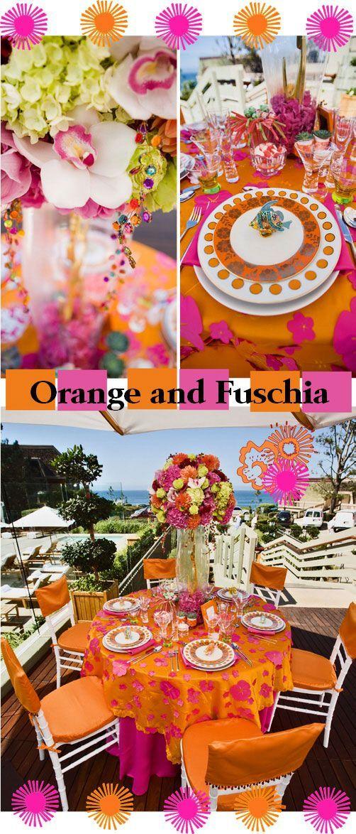 Orange And Fuschia Wedding Ideas Themes Pinterest Weddings