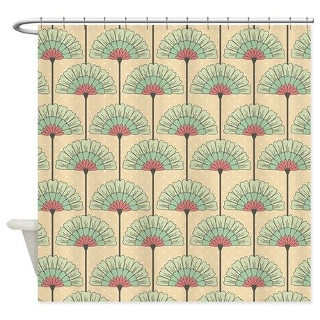 Vintage Art Deco Abstract Shower Curtain By Pugmom4 Abstract