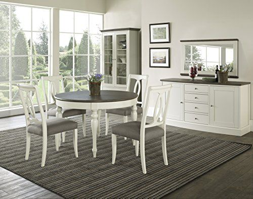 Coastlink Vegas Round To Oval Dining Table Set For 4 With Heritage