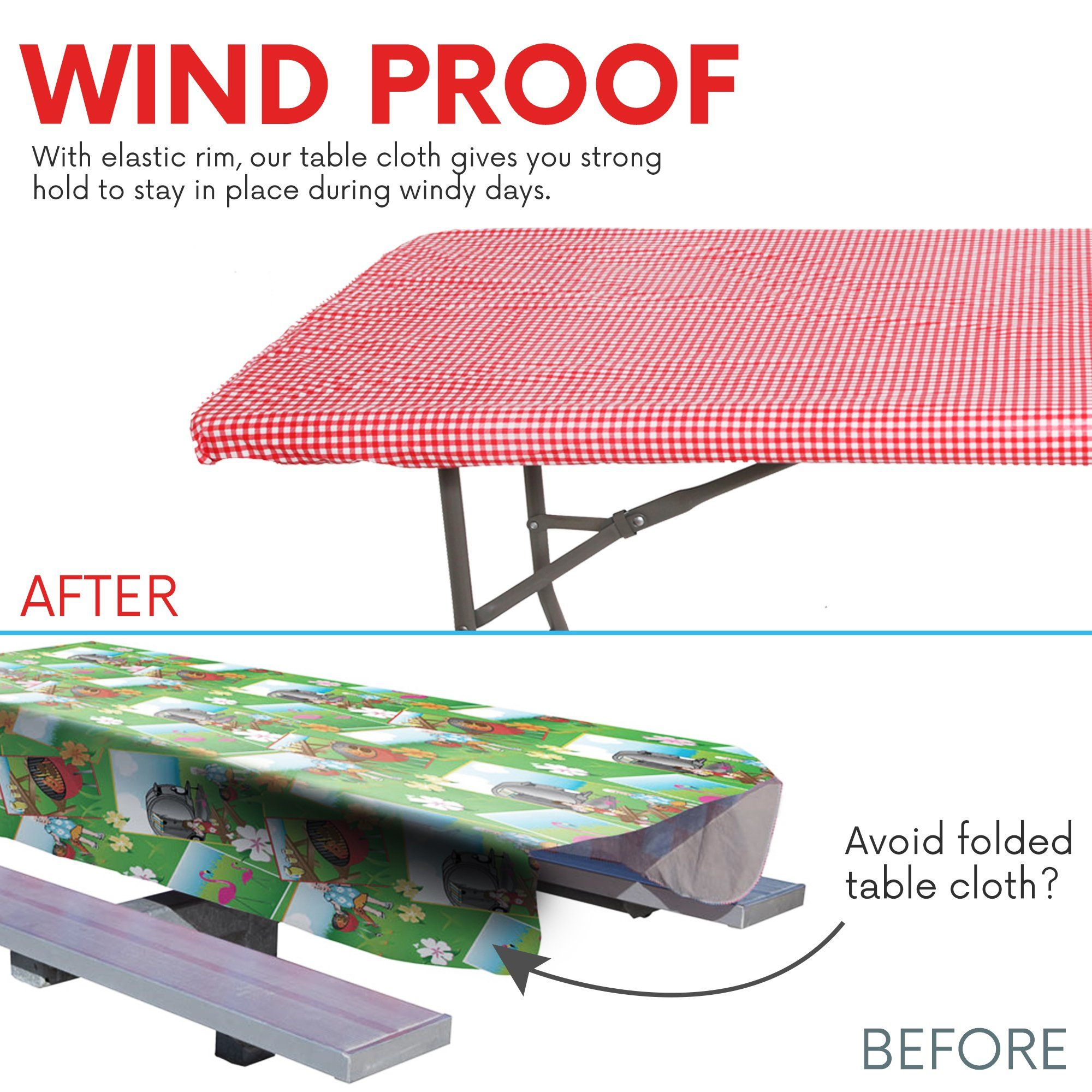 waterproof elastic edged flannel backed plastic fitted table cloth rh pinterest ca