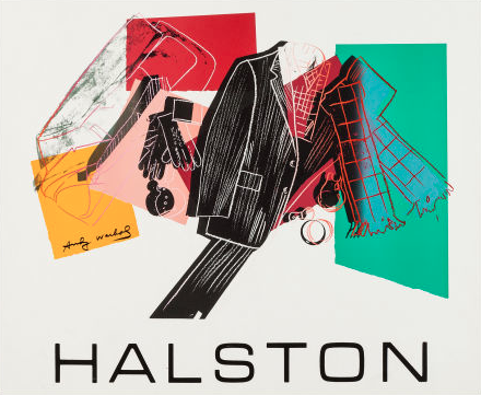 By Andy Warhol, 1 9 8 2, Halston Advertising.   Andy