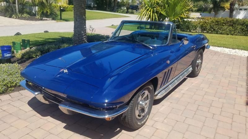 1966 Corvette Convertible For Sale Us Beautiful Sting Ray With Side Pipes 56 990 Listing 81837 Corvette Convertible Corvette Chevy Corvette For Sale