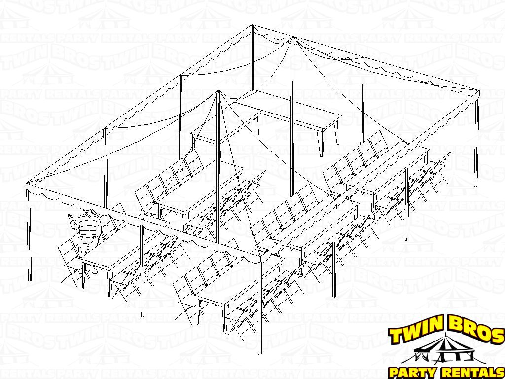 20x30 Pole Tent Layouts Pictures Diagrams Rentals