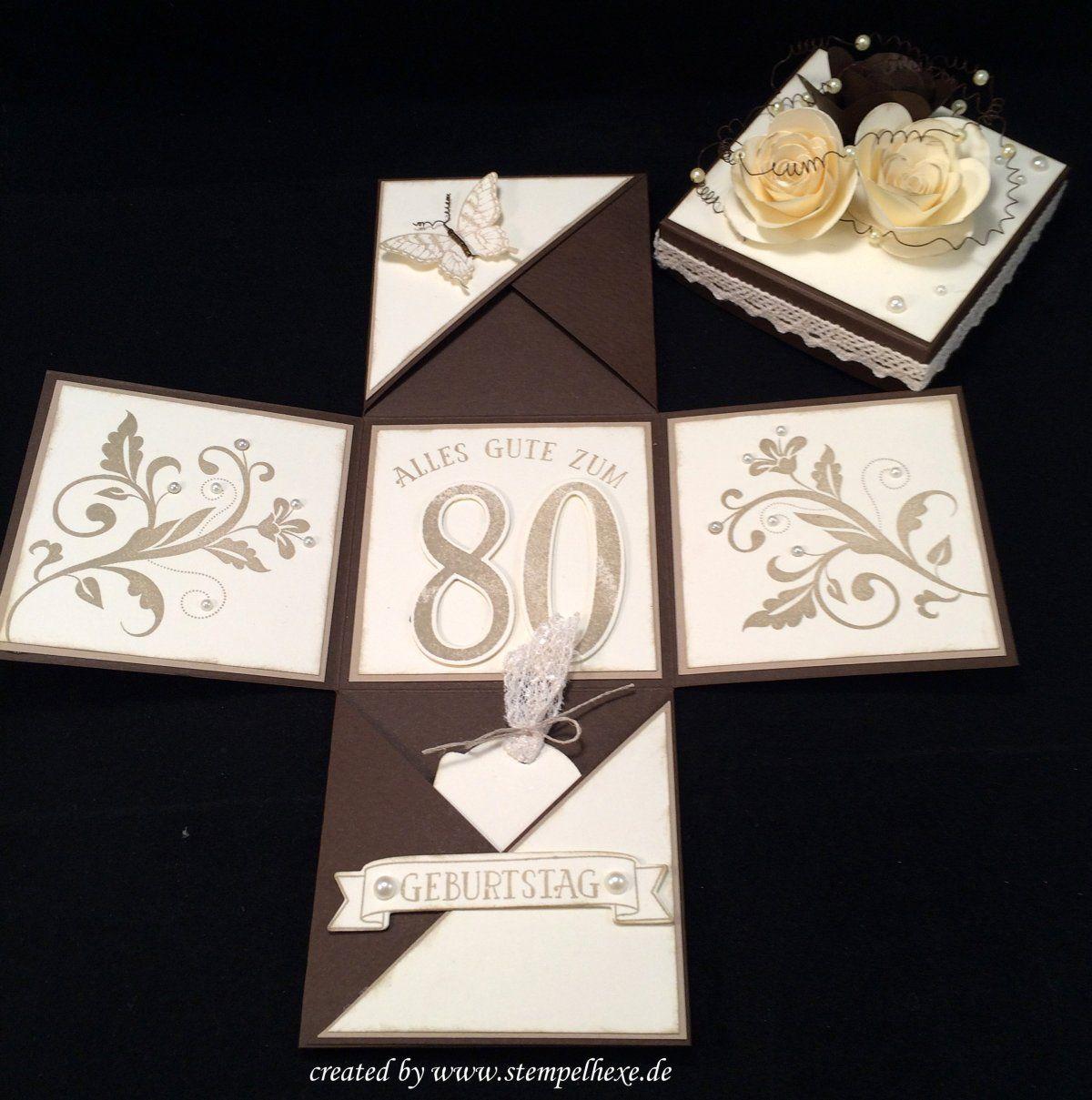Box 80 Geburtstag Stampin Stempelhexe Mit Bildern
