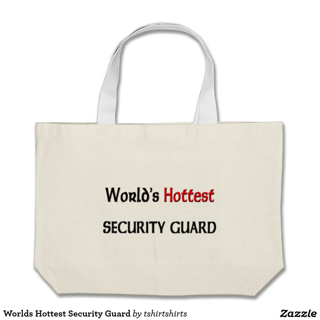 Worlds Hottest Security Guard Jumbo Tote Bag