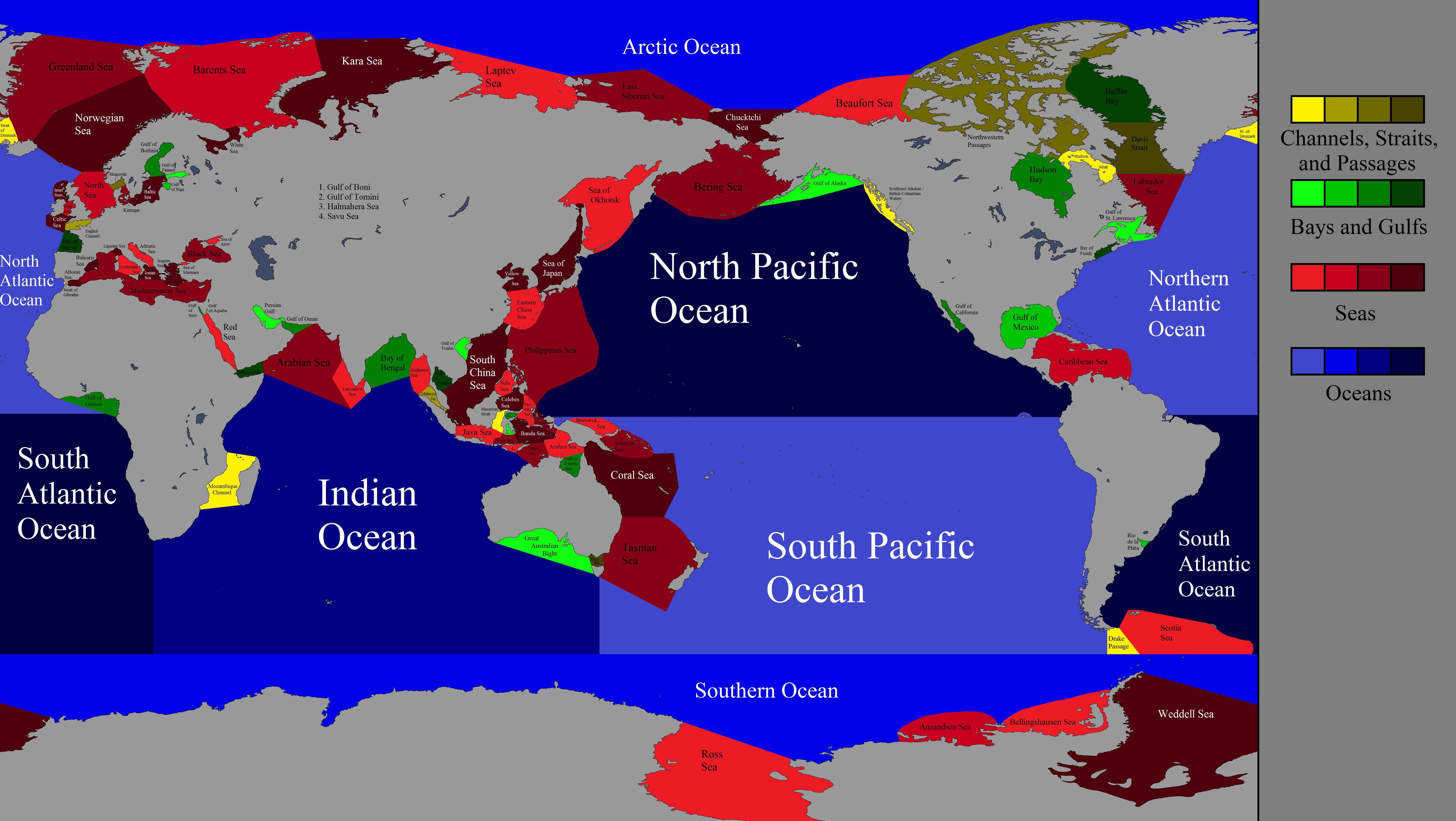 Map of all different seas and oceans maps pinterest ocean map of all different seas and oceans gumiabroncs Images
