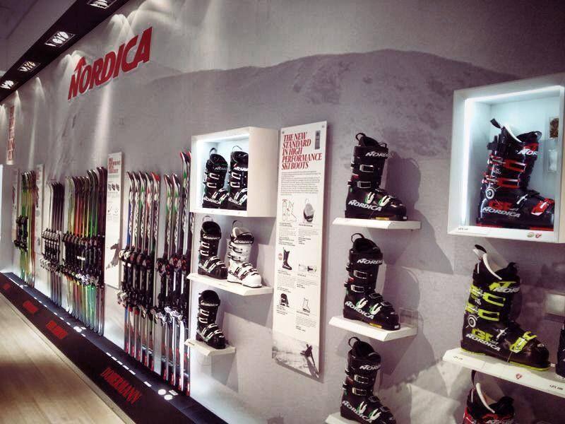 Nordica Ski Boot Display ISPO Munich 2015 Nordica ski