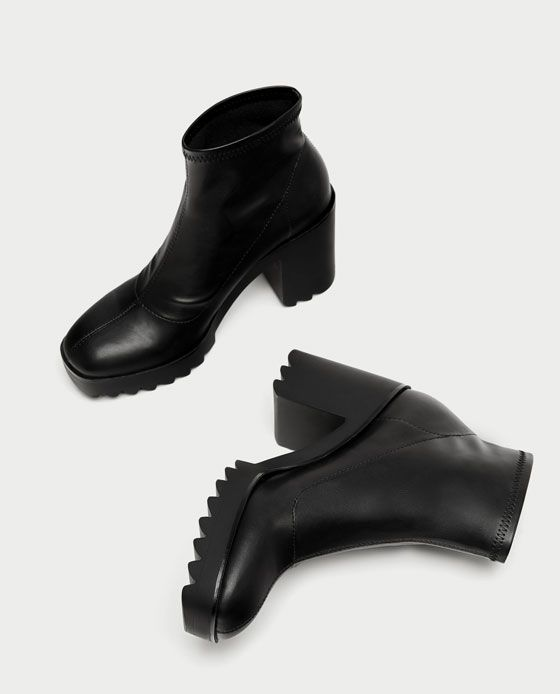 f43c7de1 Image 6 of SOCK-STYLE ANKLE BOOTS WITH TRACK SOLE from Zara | AW17 ...