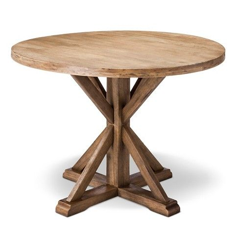 This Rustic Farmhouse Dining Table From Target Is Just Around 300 Love The Relaxed Farmhouse