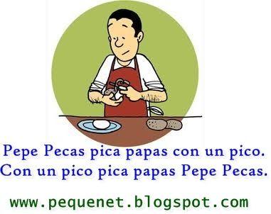 Pepe Pecas pica papas ...