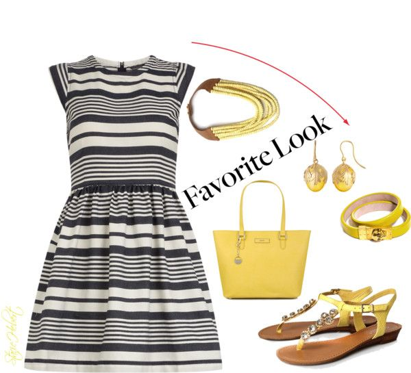 """""""Blue Stripes"""" by staciegh ❤ liked on Polyvore"""