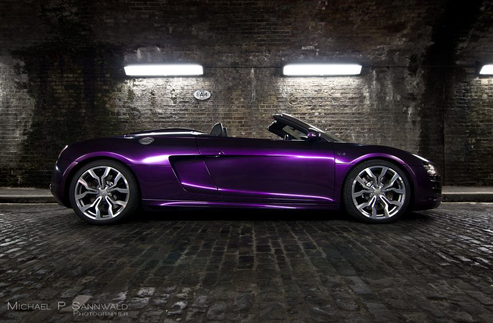 Audi R8 V10 Spyder Wred In Midnight Purple Color Thinking Of Redoing My Car Idk Still Like Glitter Lol