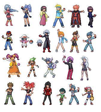 Some Pokemon Trainer Sprites Pixels Pokemon Sprites Pokémon