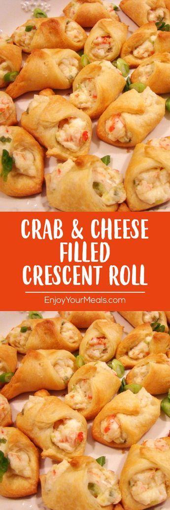 crab  cheese filled crescent rolls flavorsrecipes recipes dessertfoodrecipes  cream cheese