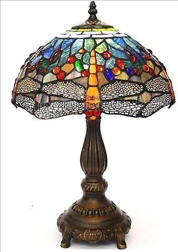 Yellow Dragonfly Tiffany Style Handcrafted Table Lamp Special Offer Tiffany Style Table Lamps Tiffany Table Lamps Table Lamp