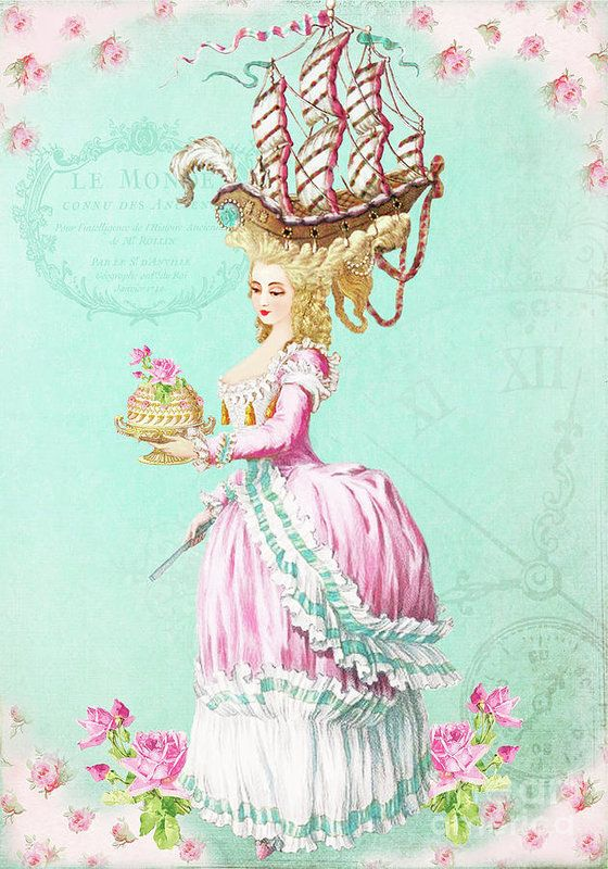 Marie Antoinette Let them eat cake Poster by Wendy Paula Patterson | Marie  antoinette, Cake illustration, Birthday cake illustration