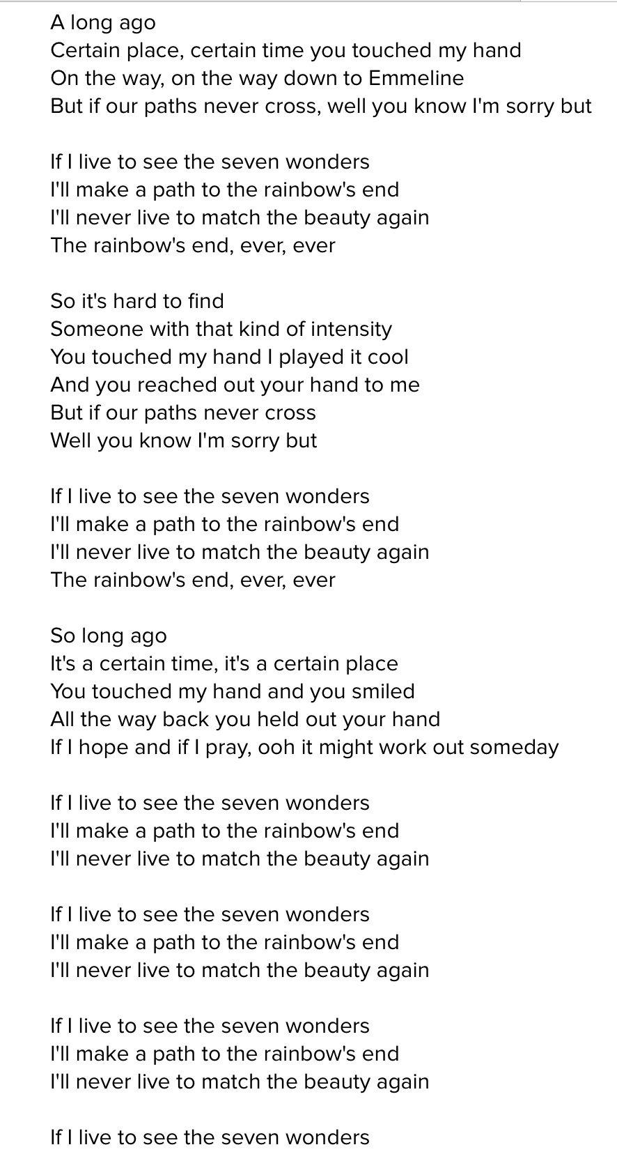 The Script - Wonders (Lyrics) - YouTube