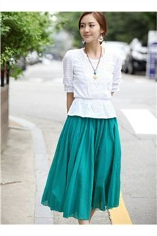 Handsome Bohemian Pure Color Skirt on tidebuy.com. #Skirts #Clothing #Dress.
