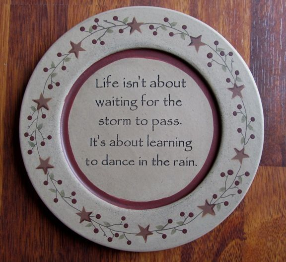 Primitive Country Dance in the Rain Wooden Decorative Plate & Primitive Country Dance in the Rain Wooden Decorative Plate | Master ...