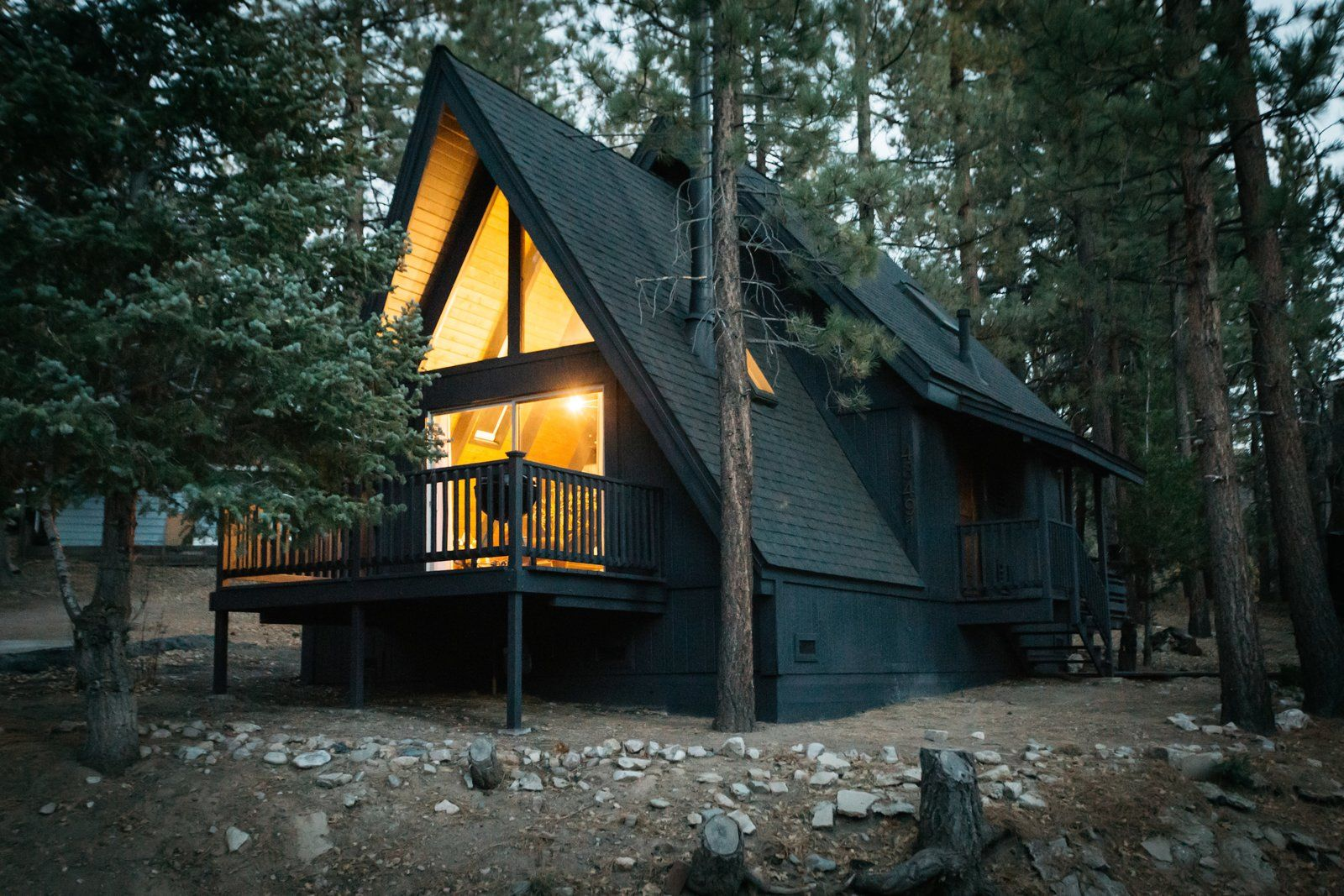 A 1970s AFrame Cabin in Big Bear Is Brought Back to Life