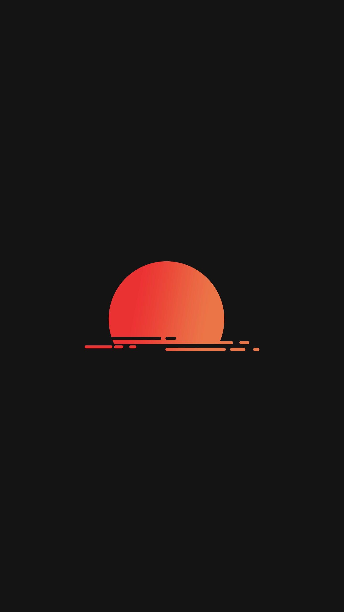 black background minimalism sunset portrait display 2K