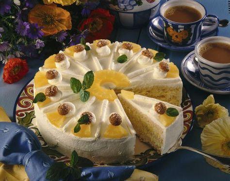 Ananas-Sahne-Torte Rezept    LECKER