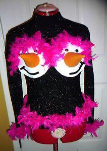 womens funny tacky handmade ugly christmas sweater size medium ebay - Ugly Christmas Sweater Ebay