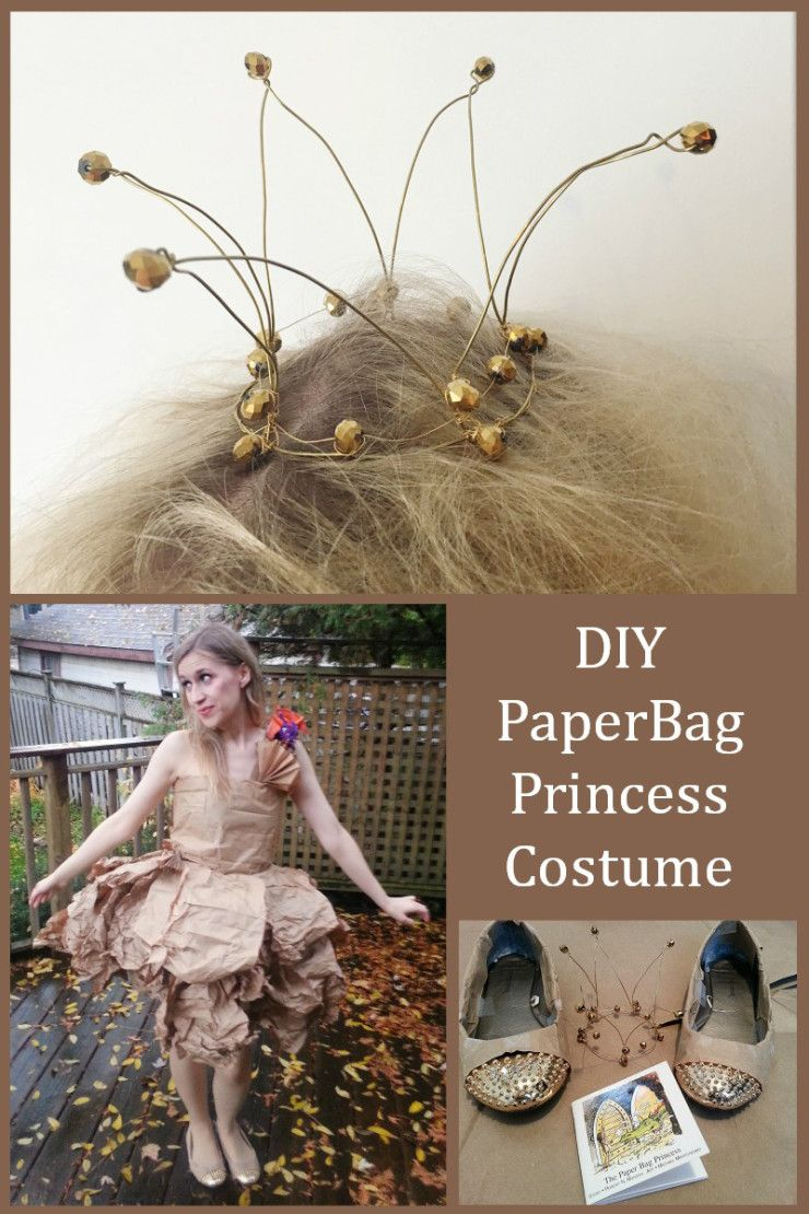 DIY PaperBag Princess Halloween Costume #paperbagprincesscostume