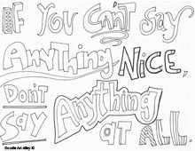 Bullying Coloring Pages Quote Coloring Pages Coloring Pages Draw Quotes Doodles
