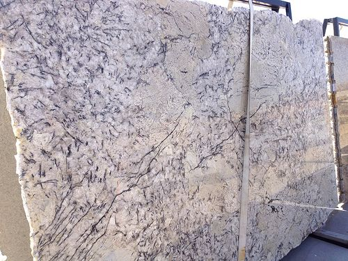 Ice Blue Granite Lots Of Creamy White With Black Slashes Gray Ivory Drifts